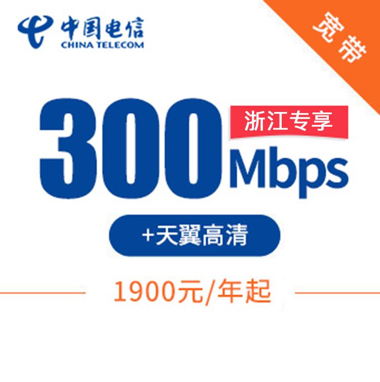 300M单宽带|包年1900元起 天翼高清 免费预约 安装就送千兆路由器